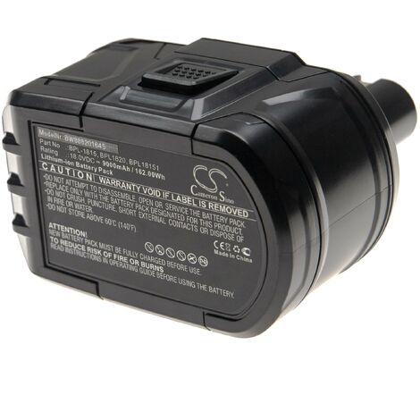 vhbw Battery compatible with Ryobi CDA1802, CDA18021B, CDA18022B, CDA1802M, CDC-181M, CDI-1802 Electric Power Tools (9000mAh Li-Ion 18V)