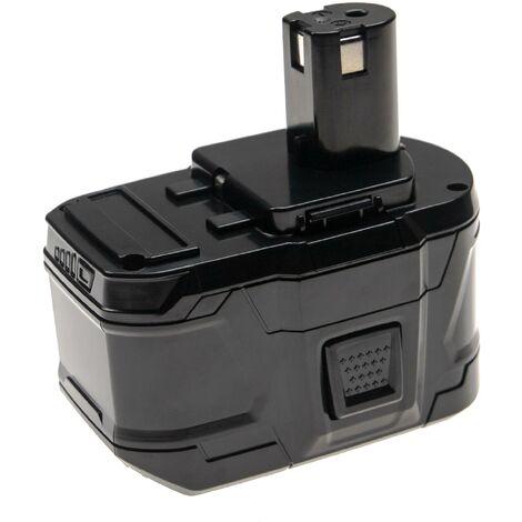 vhbw Battery compatible with Ryobi CSS-1801M, CSS-180L, CST-180M, CTR-180L, CW-1800, LCD18021B Electric Power Tools (9000mAh Li-Ion 18V)