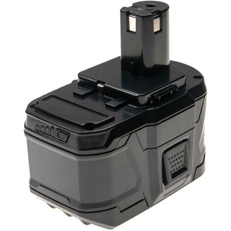 vhbw Battery compatible with Ryobi P204, P206, P2060, P208B, P2102, P234G, P236, P2603, P271, P3310 Electric Power Tools (6000mAh Li-Ion 18V)