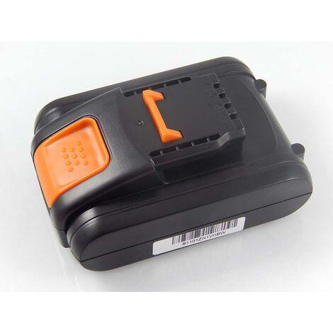 vhbw Battery compatible with Worx WG160.4, WG160E, WG160E.5, WG163, WG163E, WG163E.1 Electric Power Tools (2000mAh Li-Ion 20V)