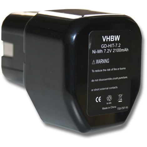 vhbw Battery for Tool Hitachi D 10dB, D 10DC, D10dB, D10DC, DN 10DAT, DN 10DSA, DN 10DVA, DN 6DM, DN 7DT, DN 7DV, DN10DAT replaces 325292, EB712S etc.