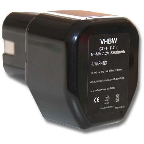 vhbw Battery for Tool Hitachi Hitachi DN 10D DN 6DM DN 7D DN10D DN6DM DN7D EB 7 EB7 FDS 7DVA FDS7DVA FEB 7S FEB7S NR90GC NRWH 6DC 325292 EB712S EB714S