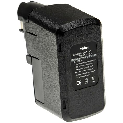 vhbw Battery Replacement for Bosch 2 607 335 055 for Electric Power Tools (2100mAh NiMH 12V)