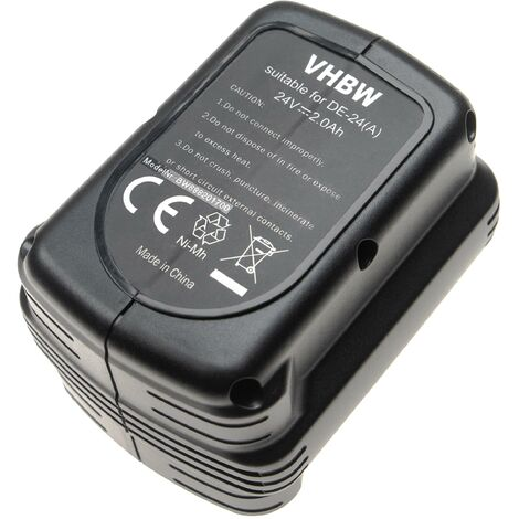vhbw Battery Replacement for Dewalt DW0242 for Electric Power Tools (2000mAh NiMH 24V)