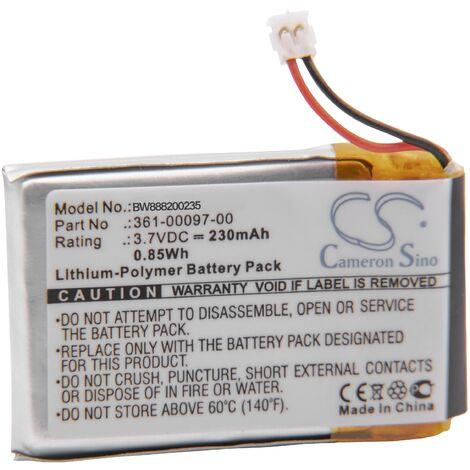 vhbw Battery replacement for Garmin 361-00096-00, 361-00097-00, 361-00098-00 for Smartwatch Watch Fitness Bracelet (230mAh, 3.7V, Li-Polymer)