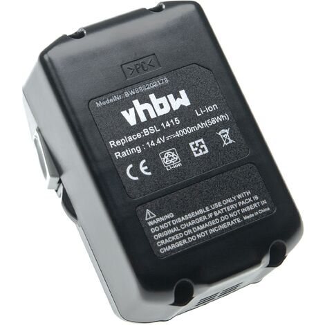 vhbw Battery Replacement for Hitachi / HiKOKI 329083, 329877, 329901, BSL 1415, BSL 1430 for Electric Power Tools (4000mAh Li-Ion 14.4V)