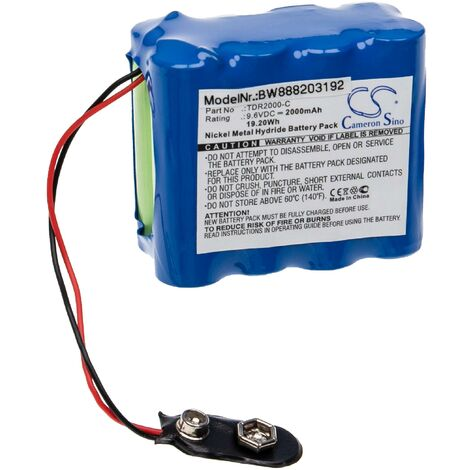 """main image of """"vhbw Battery Replacement for Megger TDR2000-C for Measuring Devices (2000mAh, 9.6V, NiMH)"""""""