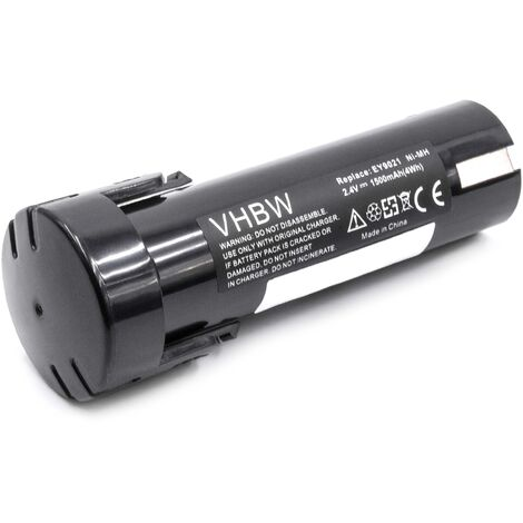vhbw Battery Replacement for Panasonic 6538 1, 6539 6, 6540 1, 6545 6, 6546 6, 6547 1, 6550 20 for Electric Power Tools (1500mAh NiMH 2.4V)