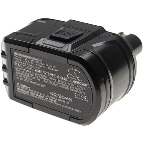 vhbw Battery replacement for Ryobi BPP-1820, P102, P103, P104, P105, P106, P107, P108, P193, P194 for Electric Power Tools (6000mAh Li-Ion 18V)