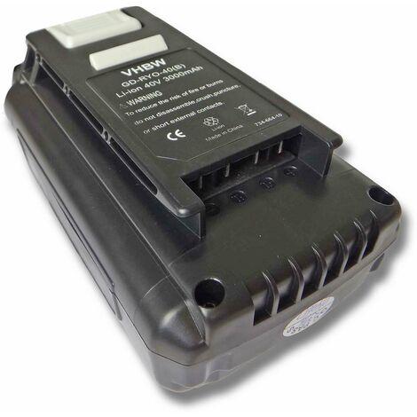 vhbw Battery replacement for Ryobi OP4015, OP40201, OP4026, OP40261, OP4026A, OP4030, OP40301, OP4040 for Electric Power Tools (3000mAh Li-Ion 40V)