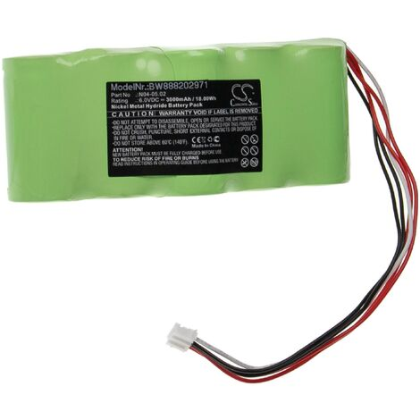 """main image of """"vhbw Battery Replacement for Theis N04-05.02 for Measuring Devices (3000mAh, 6V, NiMH)"""""""