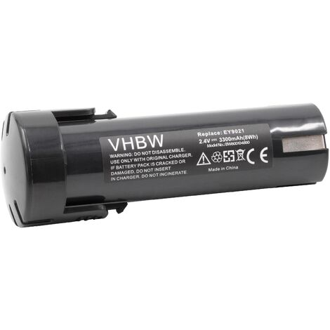 vhbw Battery Replacement for Weidmüller 9007450000 for Electric Power Tools (3300mAh NiMH 2.4V)