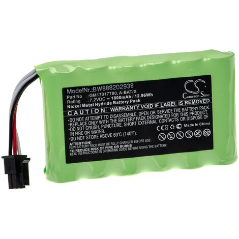 """main image of """"vhbw Battery Replacement for X-Rite A-BAT/X, GM17017780 for Measuring Devices (1800mAh, 7.2V, NiMH)"""""""