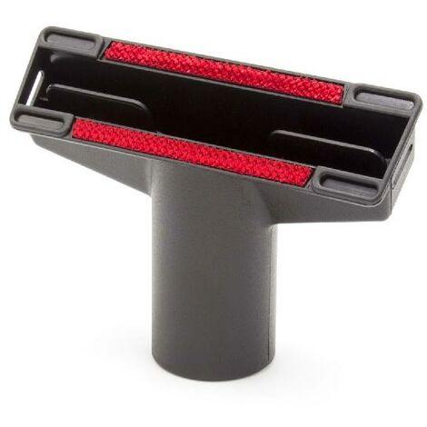 vhbw Boquilla tapizados, boquilla muebles, conexión de tubo redondo de 32mm para aspiradoras Kärcher CV 60/2 RS Bp Pack