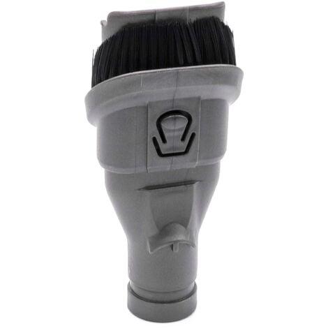vhbw Brosse combinée 2-en-1 brosse pour meubles, pinceau suceur pour aspirateur Dyson V6 Animal Pro +, V6 Animal Pro Exclusive