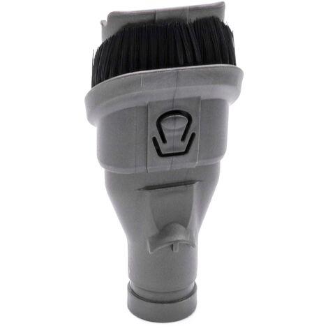 vhbw Brosse combinée 2-en-1 brosse pour meubles, pinceau suceur pour aspirateur Dyson V6 Digital Slim Flexi, V6 Flexi, V6 Fluffy, V6 Fluffy +