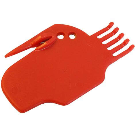 vhbw brushes cleaning tool red compatible with iRobot Roomba with built-in blade.