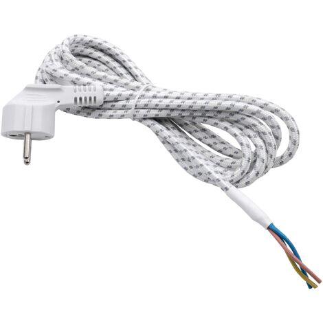 vhbw Cable alimentación universal, cable conexión plancha (2.80m) - flexible, robusto, encaje perfecto con el enchufe de tierra -extremos del cable