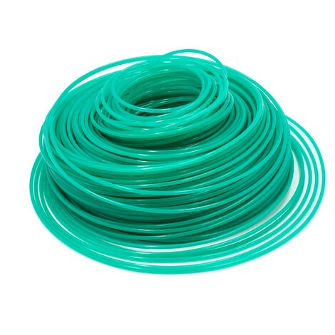 vhbw Câble de coupe 2.4mm vert 88m pour tondeuses à gazon et débroussailleuses p.ex. Bosch, Einhell, Gardena, Husqvarna, Makita, Stihl, Wolf Garten