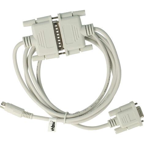 vhbw Cable programador RS232 para Mitsubishi Melsec FX, FX0N, FX1N, FX2N, FXOS, FX1S, serie A