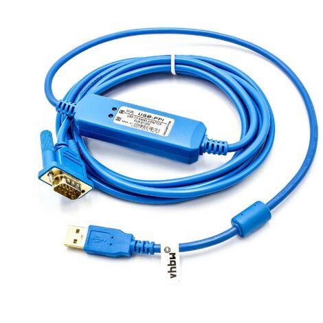 vhbw Cable programador USB, cable de 3 m para Siemens Simatic S7-200 PLC reemplaza 6ES7 901-3DB30-0XA0