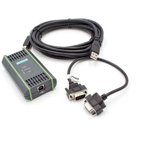 vhbw Cable programador USB, cable de 5 m para Siemens Simatic S7-200, S7-300, S7-400 reemplaza 6ES7972-0CB20-0XA0