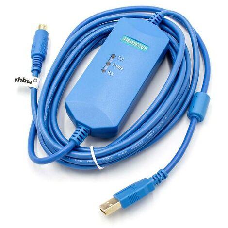 vhbw Cable programador USB para Mitsubishi Melsec FX, FX3G, FX3UC