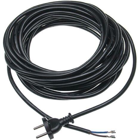 vhbw Cable universal para alimentación compatible con Kärcher, Siemens etc - 10m 2000W cable de conexión eléctrica para aspiradoras