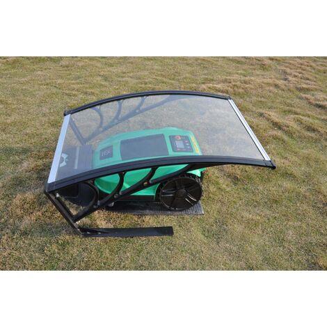 vhbw Capota protectora lluvia, garaje de policarbonato para cortacésped Husqvarna Automower G2 2004-2006, SH, Solar Hybrid