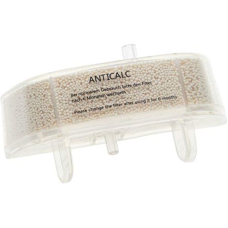 vhbw Cartouche filtrante anti-calcaire compatible avec Rowenta Steam Power RY6557WH / 4Q0, VP6555 nettoyeur balai vapeur - Filtre transparent