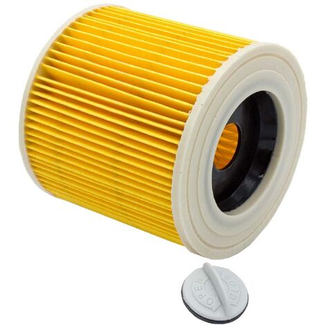 vhbw Cartouche filtrante aspirateur Kärcher A 2014 CarVac, A 2054 ME, A 2064 PT, A 2074 PT, A 2105, A 2120 ME, A 2224, A 2231 PT, A 2254 ME, A 2500