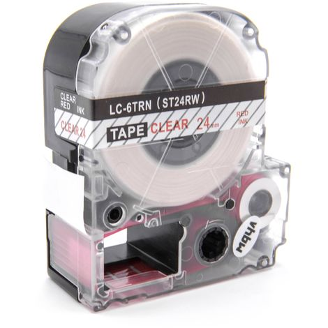 vhbw cartridge label tape 24mm suitable for KingJim SR330, SR3900C, SR3900P, SR530, SR530C, SR550, SR6700D, SR750, SR950 replaces LC-6TRN, ST24RW.