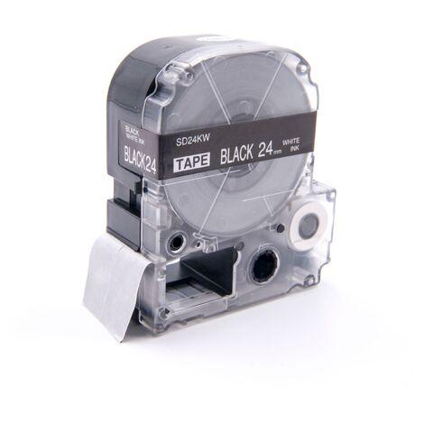 vhbw cartridge label tape 24mm suitable for KingJim SR330, SR6700D, SR3900P, SR950, SR750 replaces LC-6BWV, SD24KW.