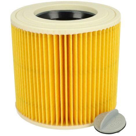 vhbw Cartucho de filtros para aspiradoras (seco / de agua) Kärcher NT 27/1 ME Professional, NT 48/1 TE Professional remmplaza 6.414-789, 6.414-789.0