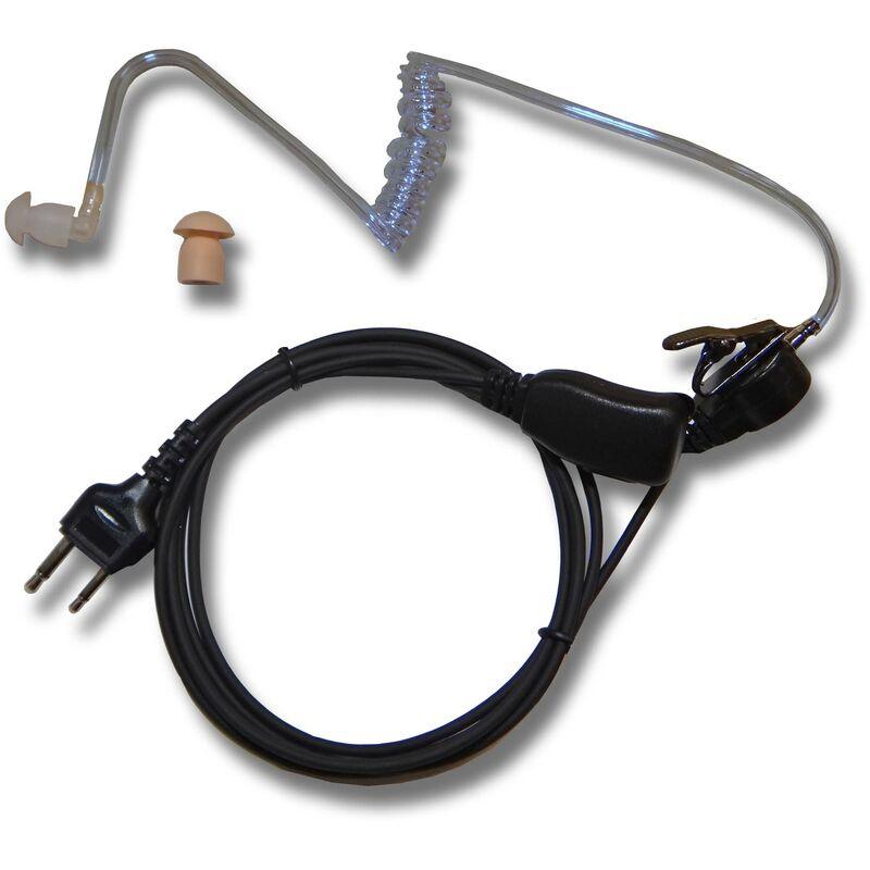 vhbw casque d'écoute compatible avec Kenwood TK-3200L, TK-3200LP, TH-F6, TH-F6A, TH-F7, TH-F7E, TK-2118, TK-2212, TK-260 radio talkie - walkie