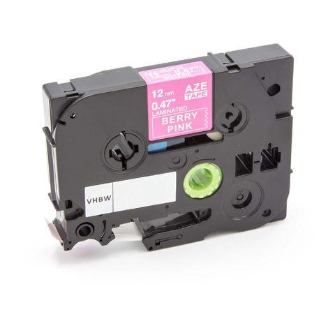 1005F vhbw Cassetta Nastro di Stampa 9mm nero su bianco qualit/à extra forte per etichettatrice Brother P-Touch 1000 1005BTS 1000BTS 1000F 1005