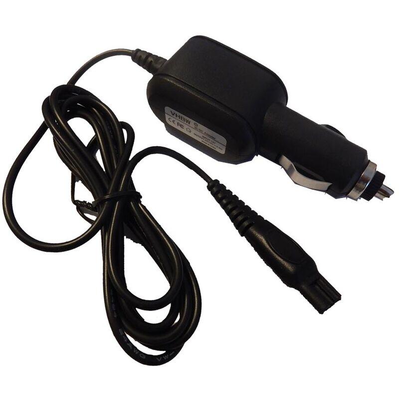 Câble de charge allume-cigare compatible avec Philips HQ8200/17, HQ8200/18, HQ8220, HQ8240, HQ8240/17 rasoir électrique - Chargeur 12V - Vhbw