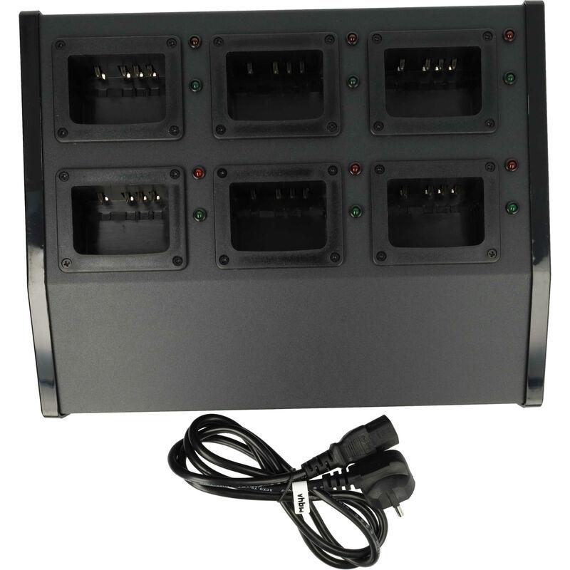 vhbw Chargeur batterie 220V Câble de chargement pour poste radio Kenwood KNB-24, KNB-24L, KNB-25, KNB-25A, KNB-26, KNB-26N, KNB-35L, KNB-55L, KNB-56N