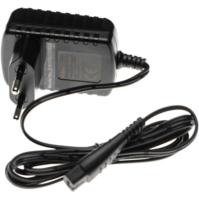 Chargeur, câble d'alimentation AC remplacement pour Panasonic ER-161, ER-1611 tondeuse à cheveux - Vhbw