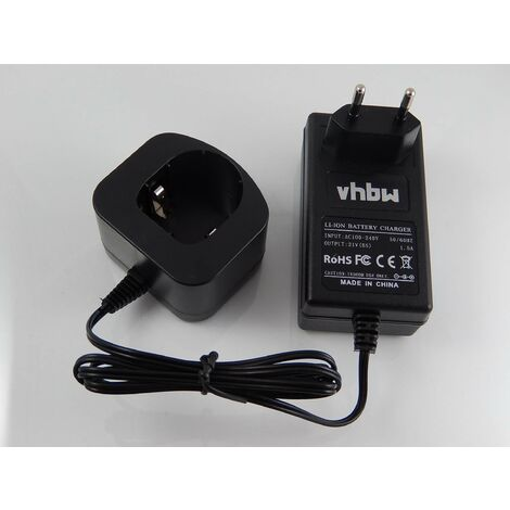 vhbw Chargeur compatible avec batteries Li-Ion matériels Ryobi P522, P530, P540, P570, P600, P610, P631K, P650, P700, P701G, P703, P704 (18 V).