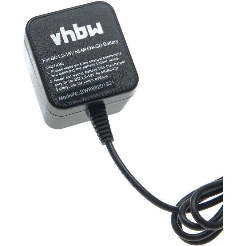Chargeur compatible avec Black & Decker 11271, S100, S110, S200, S300, S400, S500 batteries Ni-Cd, NiMH d'outils - Vhbw