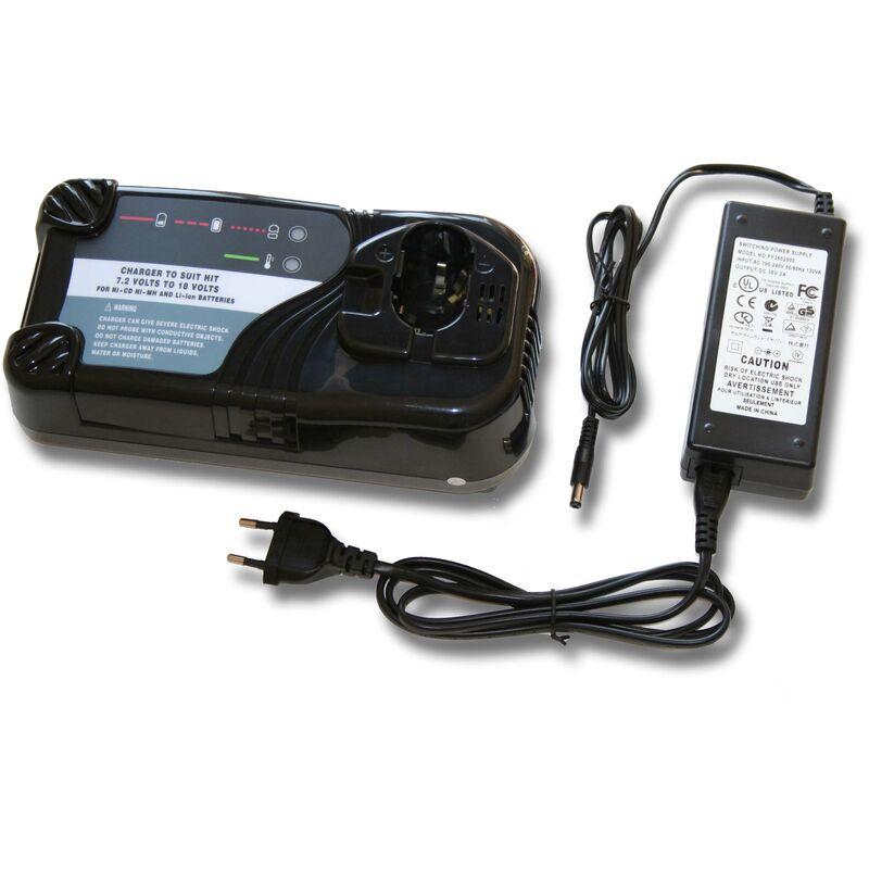 vhbw Chargeur compatible avec Hitachi / HiKOKI CJ 18DL, CJ 18DLX, CK 12D, CK 12DY, CL 10D, CL13D, CL 13D, CR18DL, CR 18DL batteries d'outils