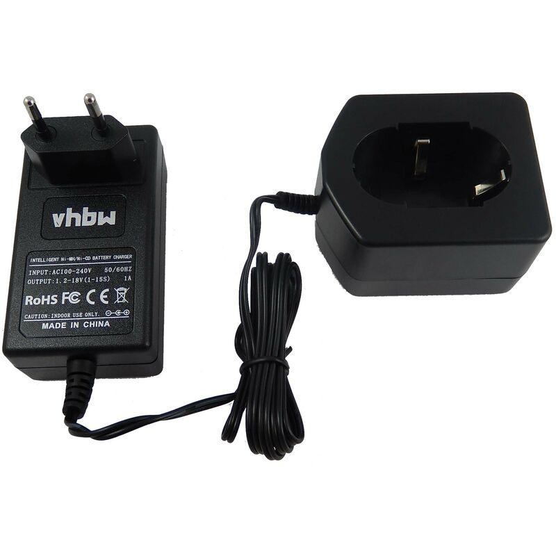 vhbw Chargeur compatible avec Hitachi NR90GC3, NRWH 6DC, NR WH 6DC, R9D, R 9D, RB18D, RB 18D, RB 18DL, UB 12D, UB12DL batteries d'outils