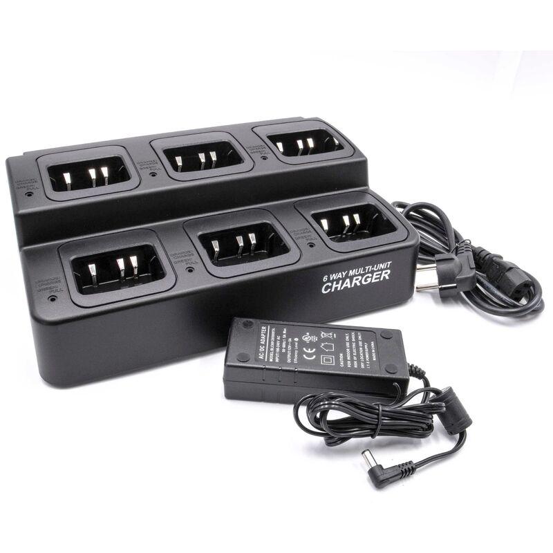 Chargeur de batterie compatible avec Kenwood TK-3206M3, TK-3207, TK-3212 batterie de radio, talkie walkie (station, câble) - Vhbw