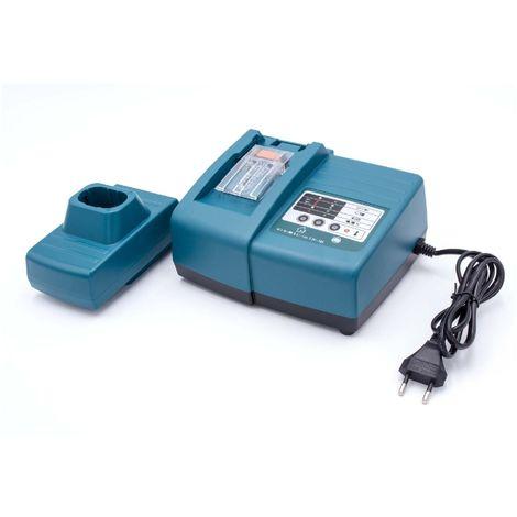 vhbw chargeur rapide avec bloc d'alimentation pour batterie d'outil Makita 194355-4, 194356-2, BL7010, 1220, 1222, 192598-2 etc.