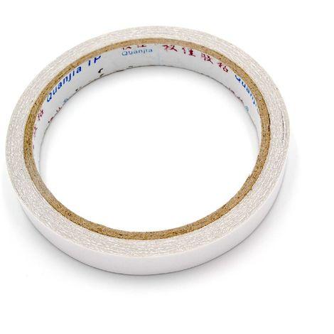 vhbw Cinta adhesiva de doble cara blanca 10m x 12mm para por ej. arreglo de pantallas