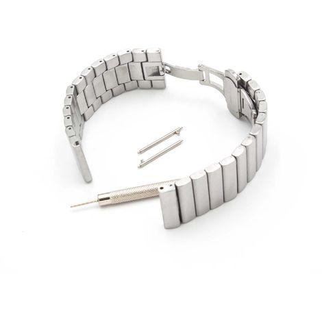 vhbw Cinturino di ricambio compatibile con Vector Luna Watch smartwatch fitness-tracker 19cm argentato