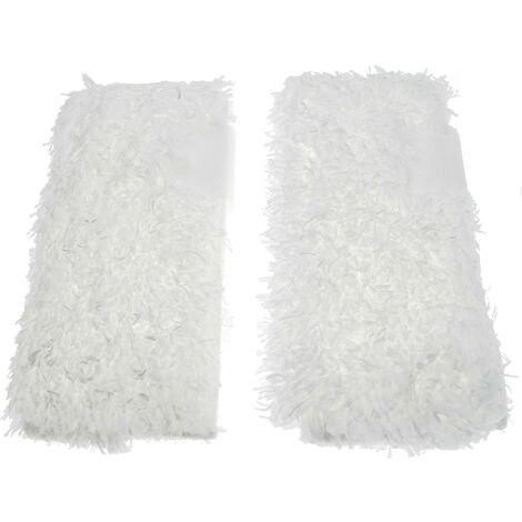vhbw Cleaning Cloths 2-Pack Set compatible with Kärcher DE 4002, K 1102, K 1201, K 1401 plus, K 1501 Steam Cleaner, Steam Mop