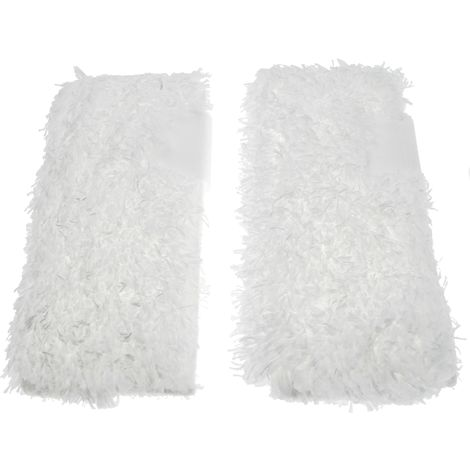vhbw Cleaning Cloths 2-Pack Set compatible with Kärcher SC 4 Premium Iron Kit, SC 4.100 C, SC 4.100 CB, SC 5 Steam Cleaner, Steam Mop