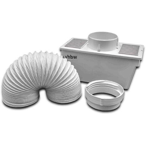 vhbw Condenseur remplacement pour Electrolux 9029792331, 50294700005 pour sèche-linge - Condensation avec tuyau d'évacuation et pince, blanc